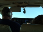 Our pilot, Wally on the stick