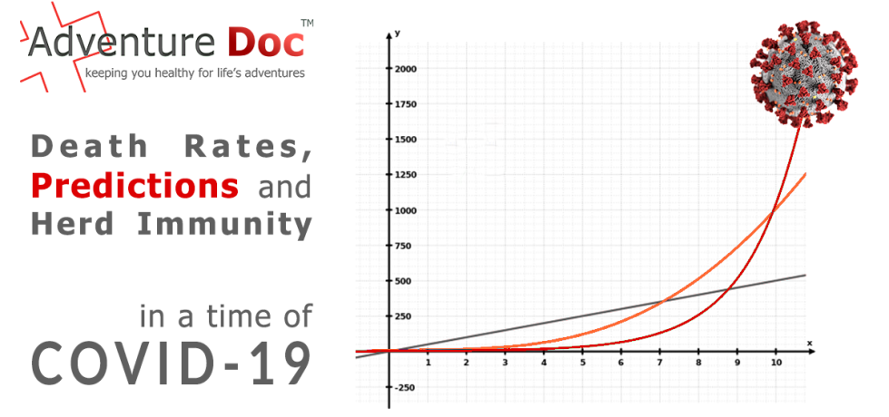 Death Rates, Predictions and Herd Immunity